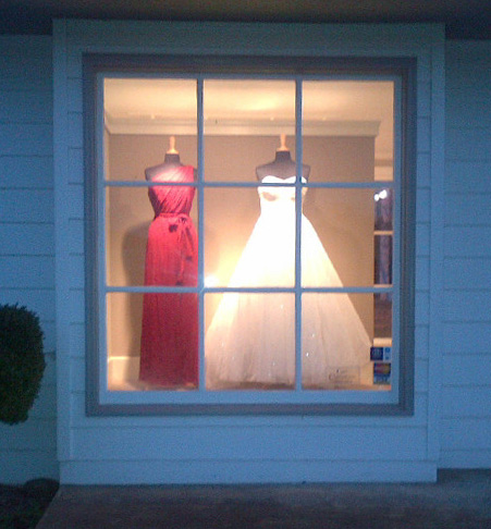 Bridal shop in Charlottesville--Look at that wedding dress!