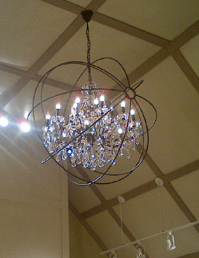 Sparkling Chandelier at Bella Rosa Bridal Salon, Charlottesville