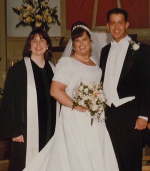 Rev. Susan Blanchard, an enthusiastic officiant