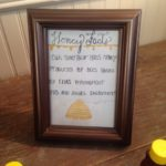 Honey display at the wedding--gifts for the guests